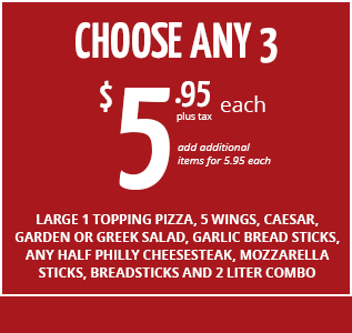 Choose Any 3 for $5.95